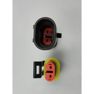 TE Connectivity AMP Superseal 1.5 Pigtail set 2-Posities Tab & Plug (vrouw&man) connector + 4x 2m. FLRY-B kabel  1,5mm2