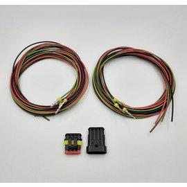 TE Connectivity AMP Superseal set 4-Pos. Tab & Plug + 8x 2meter 1,5mm2