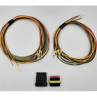 TE Connectivity AMP Superseal 1.5 Pigtail set: 5-Pos. Tab & Plug connector + 10x 2m. FLRY-B kabel 1,5mm2