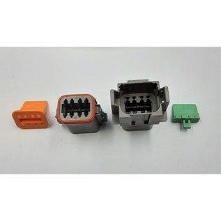 Cable-Engineer Deutsch DT Pigtail-set: 8-Pos. Receptacle & Plug + 16x 2meter 0,75mm2 FLRY-B kabel