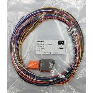 Cable-Engineer Deutsch DT Pigtail-set: 12-Pos. Plug (man) met 12x 2meter 0,75mm2 FLRY-B kabel