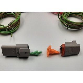 Cable-Engineer Deutsch DT Pigtail-set: 3-Pos. Receptacle & Plug + 6x 2meter 1,5mm2 FLRY-B kabel