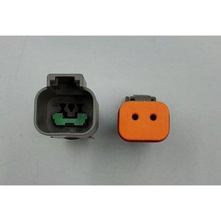 Cable-Engineer Deutsch DT Pigtail-set: 2-Pos. Receptacle & Plug connectors + 4x 2meter 0,75mm2 FLRY-B kabel