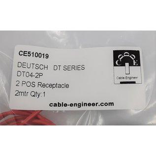 Cable-Engineer Deutsch DT Pigtail-set: 2-Pos. Receptacle (vrouw) met 2x 2meter 1,5mm2 FLRY-B kabel