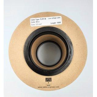 Cable-Engineer FLRY-B kabel 2,5mm2 - automotive - voertuigkabel  op rol met 100m. Kleur Blauw