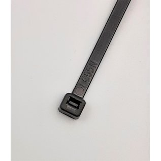 Cable-Engineer 100 Zwarte kabelbinders van 25cm lang en 4,8mm breed  (Tie Wraps 250x4,8)