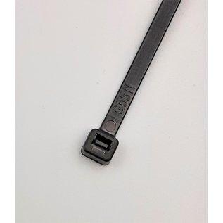 Cable-Engineer 100 Zwarte kabelbinders van 20cm lang en 4,8mm breed  (Tie Wraps 200x4,8)