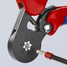 Knipex KNIPEX zelfinstellende krimptang voor adereindhulzen Hexagonaal 975314