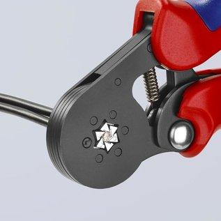 Knipex Professionele 6-kants krimptang van KNIPEX voor adereindhulzen van 0,08 tot 10mm2  97 53 14