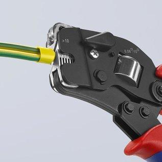 Knipex Professionele 4-kants krimptang van KNIPEX voor adereindhulzen van 0,08 tot 10mm2  975309 SB