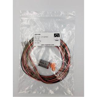 Cable-Engineer Deutsch DT Pigtail-set: 4-Pos. Plug (man) connector met 4x 2meter 0,75mm2 FLRY-B kabel