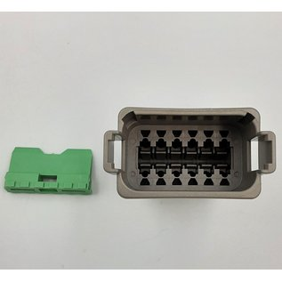 Cable-Engineer Deutsch DT Pigtail-set: 12-Pos. Receptacle (vrouw) connector met 12x 2meter 0,75mm2 FLRY-B kabel