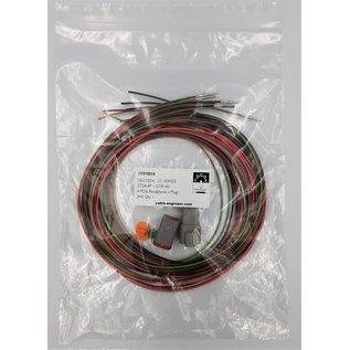 Cable-Engineer Deutsch DT Pigtail-set: 4-Pos. Receptacle & Plug + 8x 2meter 0,75mm2 FLRY-B kabel