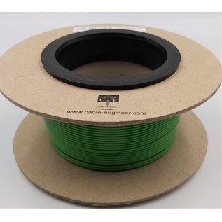 Cable-Engineer FLRY-B kabel 1,0mm2  voertuigkabel  op rol met 100m. Kleur Groen