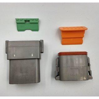 Cable-Engineer Deutsch DT Pigtail-set: 12-Pos. Receptacle & Plug + 24x 2meter 1,5mm2 FLRY-B kabel