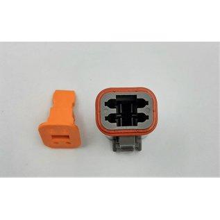 Cable-Engineer Deutsch DT Pigtail-set: 4-Pos. Plug (man) connector met 4x 2meter 1,5mm2 FLRY-B kabel