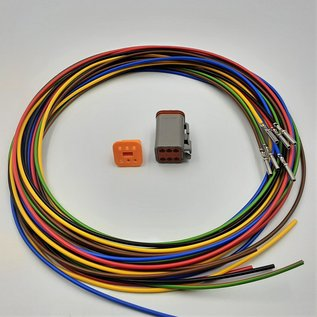 TE Connectivity Deutsch DT Pigtail-set: 6-Pos. Plug (man) + 6x 2meter 0,75mm2  FLRY-B kabel