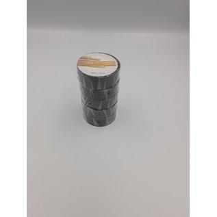5 Rollen zwarte isolatie of PVC tape van 15mm breed en 10meter lang