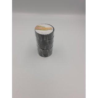 5 Rollen zwarte isolatie of PVC tape van 19mm breed en 10meter lang