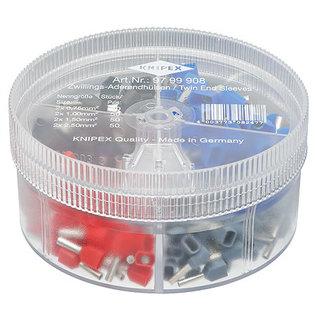 Knipex Knipex assortimentbox  geïsoleerde dubbele adereindhulzen 0,75 / 1,00 / 1,50 en 2,5mm2 9799908