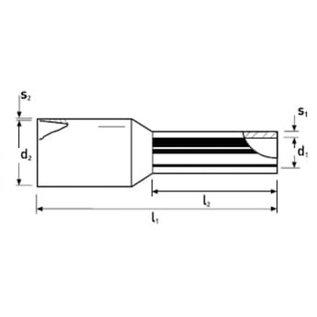 Knipex Knipex geïsoleerde adereindhulzen voor draad 2,5mm2 per 200stuks verpakt - 97 99 354
