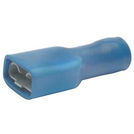 Cable-Engineer Vlakstekerhuls  4,8 x 0,8 mm - Blauw vol geïsoleerd 100 stuks