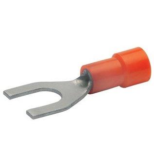 Cable-Engineer 100x Vork kabelschoen M6 Rood voor draad Ø van 0,5 tot 1,5 mm2