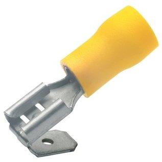 Cable-Engineer Piggyback Kabelschoenen 6,3x0,8 Geel voor draad 4,0 t/m 6,0 mm
