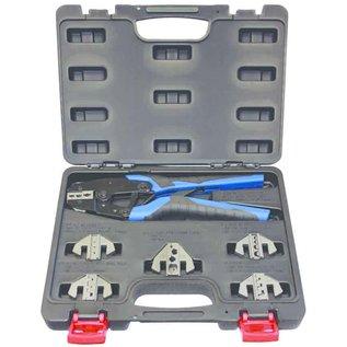 """Cable-Engineer Krimptang set met 6 aparte krimpprofielen voor """"Automotive"""" krimptoepassingen"""