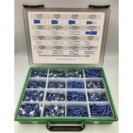 """Cable-Engineer Kit """"BIG BLUE"""" 1900 Blauwe kabelschoenen voor draad van 1.5 t/m 2.5 mm2"""