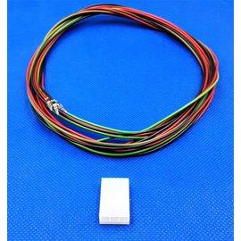 Plug - 3Pos.(1-Rij) + 3x 2m. kabel