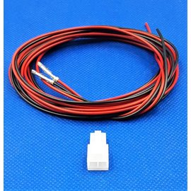Receptacle - 2Pos.(1-Rij) + 2x 2m. kabel