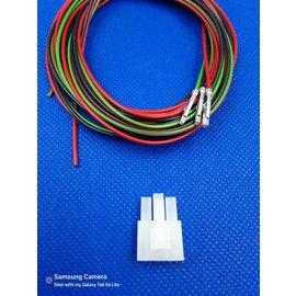 Receptacle - 3Pos.(1-Rij) + 3x 2m. kabel