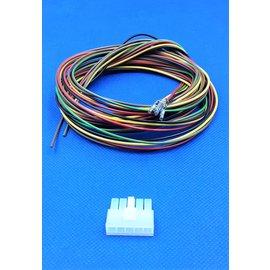 Receptacle - 5Pos.(1-Rij) + 5x 2m. kabel