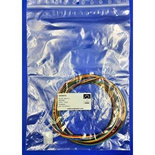 Complete set met Molex MiniFit Jr. Receptacle connector 6Pos. (1-Rij) + 6x 2m. 0,50mm2 kabel en contacten (pre-crimped)