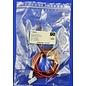 Complete set met Molex MiniFit Jr. Plug & Receptacle 2Pos. (1-Rij) + 4x 2m. 0,50mm2 kabel en contacten (pre-crimped)