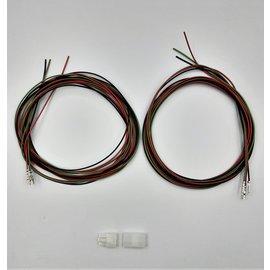 Plug & Receptacle 3Pos.(1-Rij) + 6x 2m. kabel