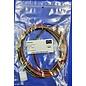 Complete set met Molex MiniFit Jr. Plug Housing (1-Rij) 4Pos. + 4x 2m. 0,50mm2 kabel met contacten