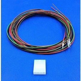 Plug - 4Pos.(1-Rij) + 4x 2m. kabel