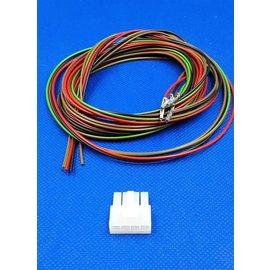 Receptacle - 4Pos. (1-Rij) + 4x 2m. kabel