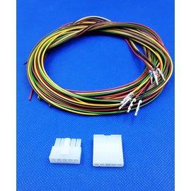 Plug & Receptacle 5Pos.(1-Rij) + 10x 2m. kabel