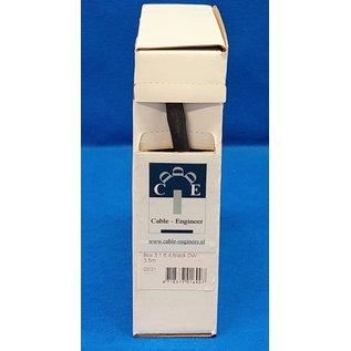 Cable-Engineer Box met 3,5 meter dubbelwandige krimpkous met lijm van 6,4 mm met krimpratio : 3:1