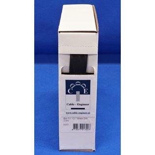 Cable-Engineer Box met 2,5meter dubbelwandige krimpkous met lijm. Ø 12,7 mm met krimpratio : 3:1