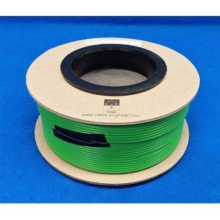 Cable-Engineer FLRY-B kabel 1,5mm2 - flexibele voertuigkabel  op rol met 50 meter - Kleur GROEN