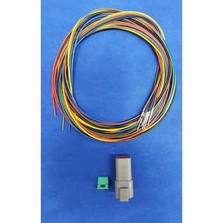 TE Connectivity Deutsch DT Pigtail-set: 6-Pos. Receptacle (vrouw) + 6x 2meter 0,75mm2  FLRY-B kabel