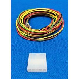 Molex Molex Minifit Plug - 5Pos.(1-rij) + 5x 2m. kabel