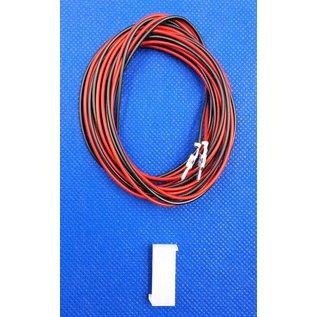 Molex Complete set met Molex MiniFit Jr. Plug connector 2Pos. (2-Rij) + 2x 2m. 0,50mm2 kabel  met contacten (pre-crimped)