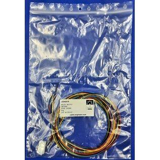 Molex Complete set met Molex MiniFit Jr. Plug connector 6Pos. (2-Rij) + 6x 2m. 0,50mm2 kabel  met contacten (pre-crimped)