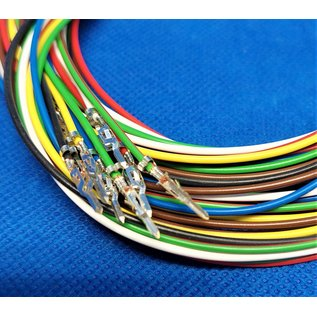 Molex Complete set met Molex MiniFit Jr. Plug connector 8Pos. (2-Rij) + 8x 2m. 0,50mm2 kabel  met contacten (pre-crimped)