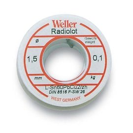 WELLER Weller BL 60/40 -100 Soldeer, 1,5mm, 250gr.